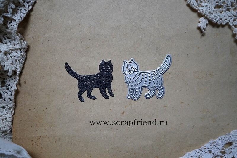 Нож для вырубки Сказки - Котенька-коток, 4,5х4см, Scrapfriend
