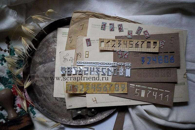 Набор ножей для вырубки Цифры Индекс, высота цифры 1см, Scrapfriend