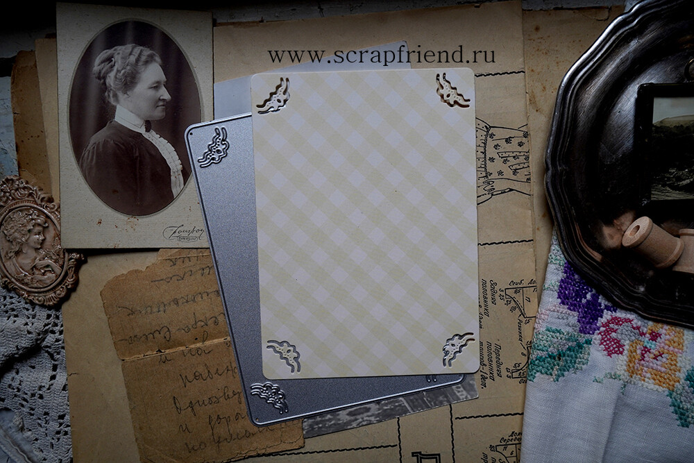 Die Lanford: Photoframe for 9x13 cm (3,5x5 inch) photo, Scrapfriend