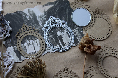 Dies Framed Medallion and Oval, 3,5х5,2cm, 2,5х3cm, Scrapfriend