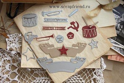 Набор ножей для вырубки СССР, 9 штук, Scrapfriend
