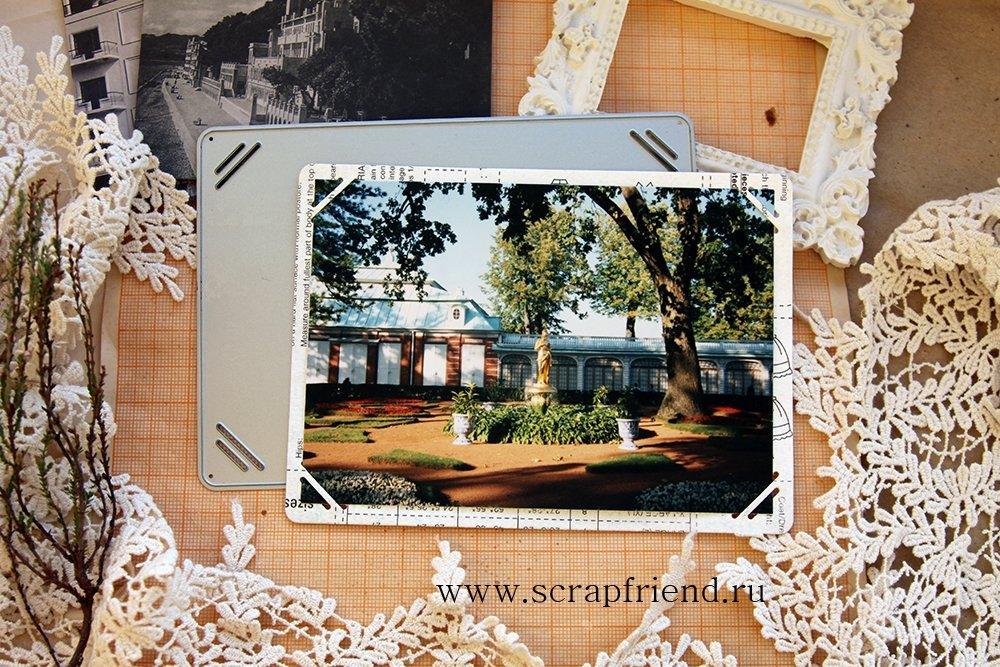 Die Gustav: Photoframe for 9x13 cm (3,5x5 inch) photo, Scrapfriend