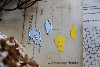 Dies Bulbs, 2 pcs, Scrapfriend