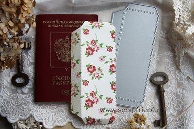 Нож для вырубки Кармашек для паспорта или фотографий Фестон, 5х13см, Scrapfriend