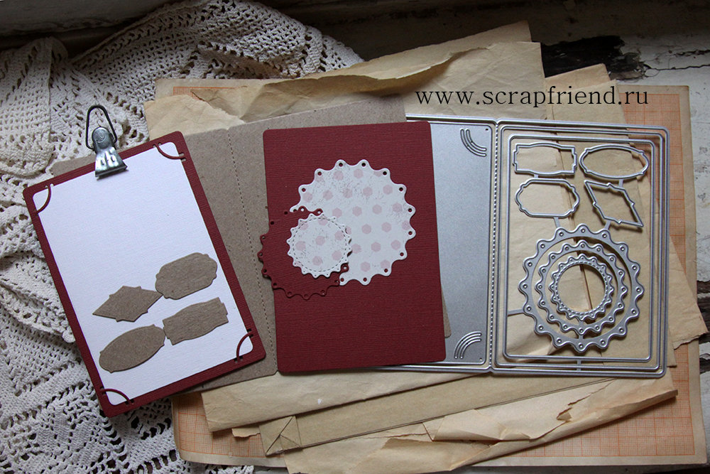 Dies Card-kit, 11 pcs, Scrapfriend