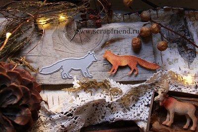 Die Fox, 3x7 cm, Scrapfriend