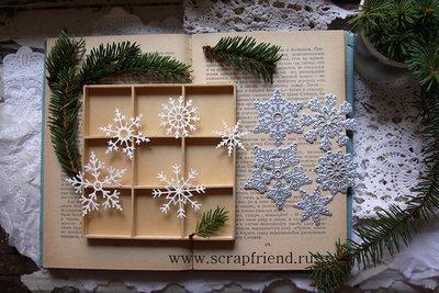 Dies Snowflakes, 3-5,5 cm, 5pcs, Scrapfriend