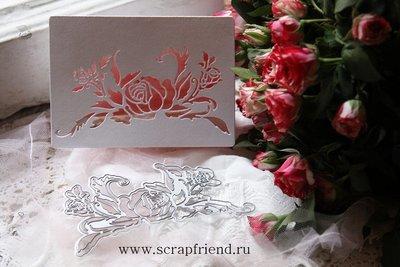 Dies Roses stencil, 13x7cm, Scrapfriend