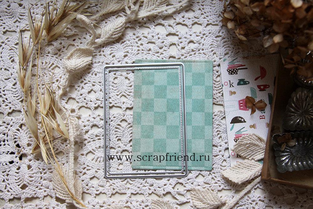 Dies ATC (artist trading card), 6.4x8.9 cm, Scrapfriend