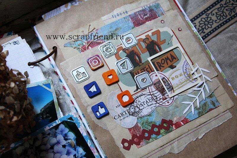 Dies Social network icons, 1,5 cm, 5 pieces, Scrapfriend