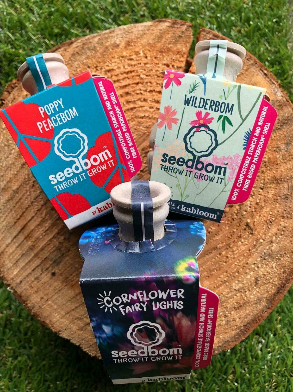 Cornflower, Poppy & Wilderbom Seedbom triple pack