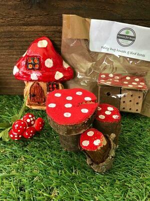 Handmade Fairy Garden Gift Set with Toadstool Door