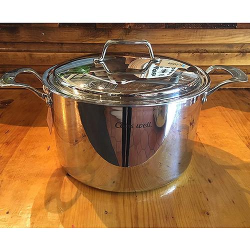 "'CookWell' 8 quart Stock Pot & 10"" Lid"