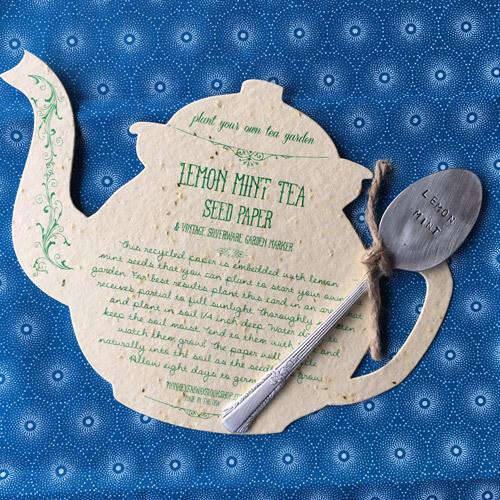 Lemon Mint Tea Seed Paper