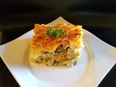 Chicken Enchilada Casserole w/ Salsa Verde