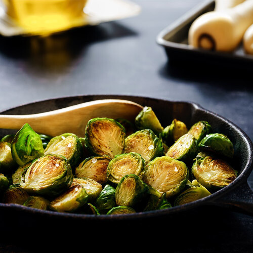 Roasted Brussels Sprouts w/ Bacon