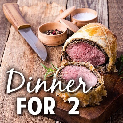 Gourmet Beef Wellington Dinner for Two