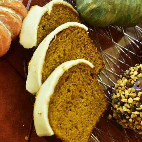 Caribbean Banana Bread w/ Rum & Brown Sugar Glaze