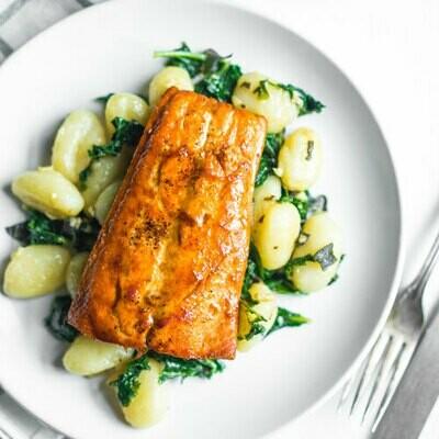 Salmon with Lemon Butter Sauce (Single)