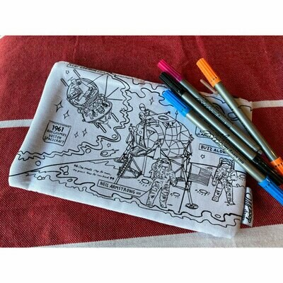 Space Explorer Doodle Pencil Case