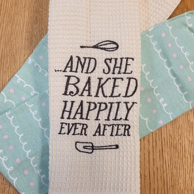 """""""And She Baked Happily Ever After'' Kitchen Boa®"""