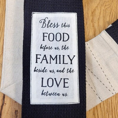 'Bless This Food Before Us, The Family Beside Us and the Love Between Us' Kitchen Boa®