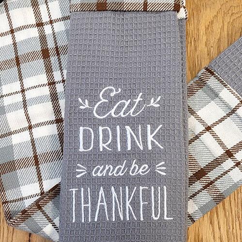 'Eat, Drink & Be Thankful' Kitchen Boa®