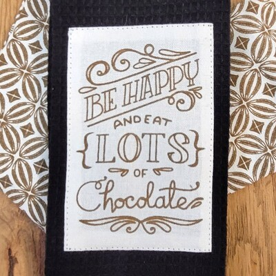 'Be Happy and Eat Lots of Chocolate' Kitchen Boa®