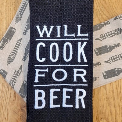 'Will Cook For Beer' Kitchen Boa®