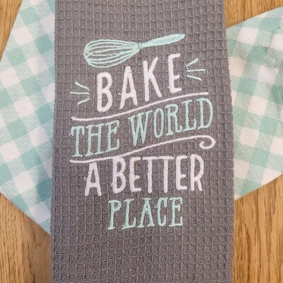 'Bake the World A Better Place' Kitchen Boa®