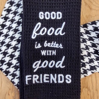 'Good Food is better with Good Friends' Kitchen Boa®