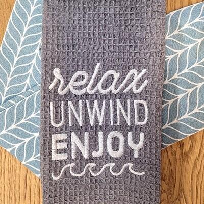 'Relax, Unwind, Enjoy' Kitchen Boa®