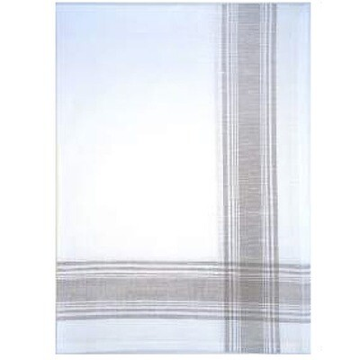 Border Taupe Linen Tea Towel by Mierco