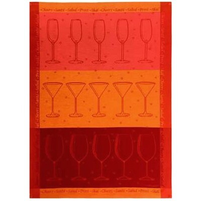 Cheers Linen Tea Towel by Mierco