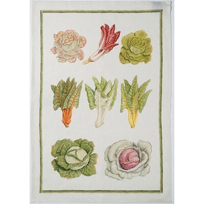 Veg Insalata Linen Tea Towel by Mierco