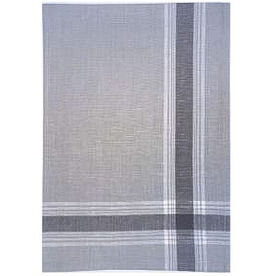 Border Gray Linen Tea Towel by Mierco
