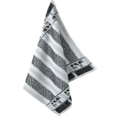 Border Cow Terry Tea Towel by Mierco
