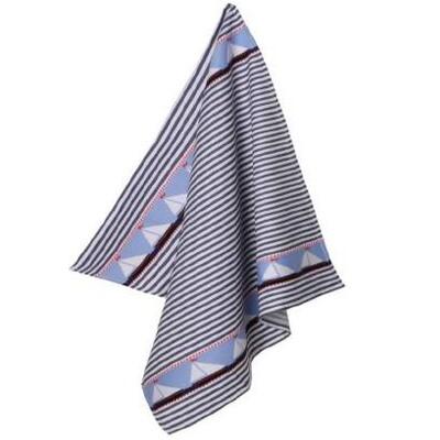 Sailboat Linen Tea Towel by Mierco