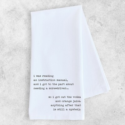 Dev D + C Instruction Manual Tea Towel