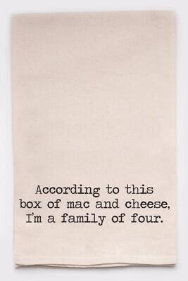 Ellembee Gift Tea Towel - Family of Four