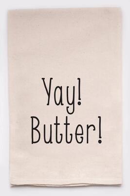 Ellembee Gift Tea Towel - Yay! Butter!