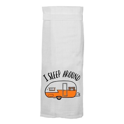 Flour Sack Hang Tight Towel - I Sleep Around