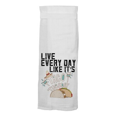 Flour Sack Hang Tight Towel - Taco Tuesday
