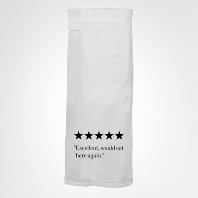 Flour Sack Hang Tight Towel - Would Eat Here Again