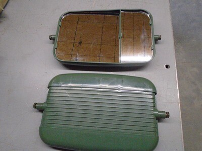 Set of  Green HMMWV SIDE MIRROR HEAD Humvee H1 HUMMER Humvee M998