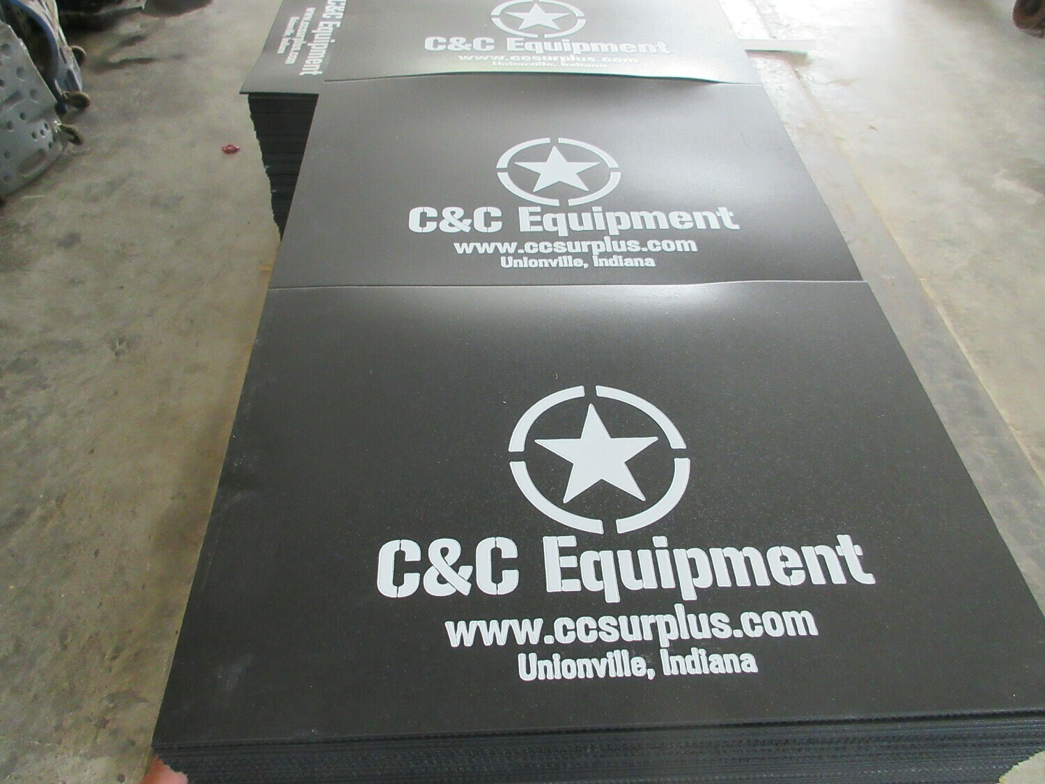 C&C Equipment Mud Flaps 20x14 M35A2 M35A3 Humvee