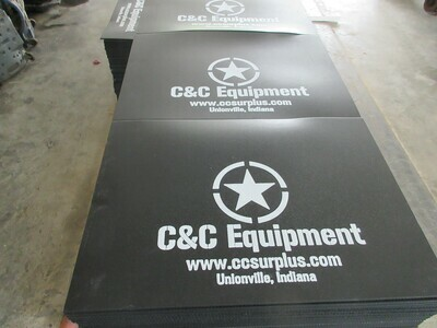 C&C Equipment Mud Flaps 20x14 M35A2 M35A3 Humvee
