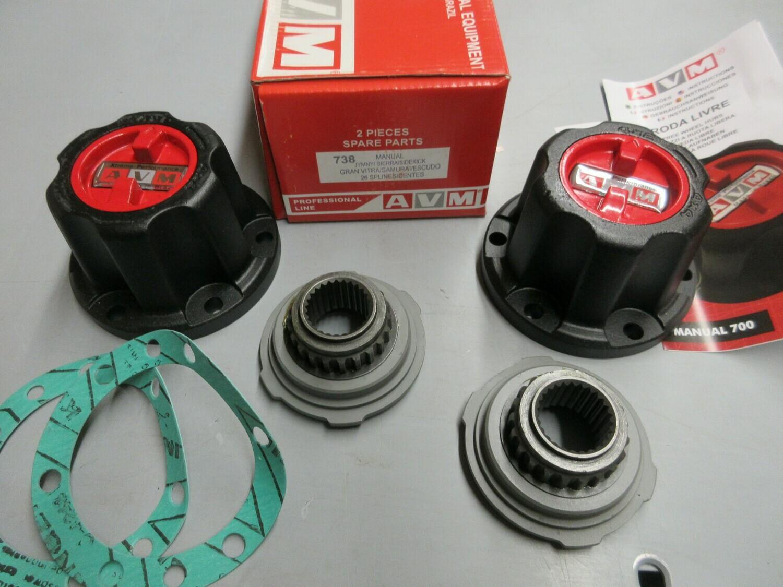 AVM 738 locking hubs Suzuki Samurai sierra Sidekick warn 34581 lock outs Extreme