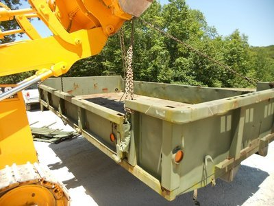 GOOD USED 14' DROP SIDE CARGO BED FROM A M813