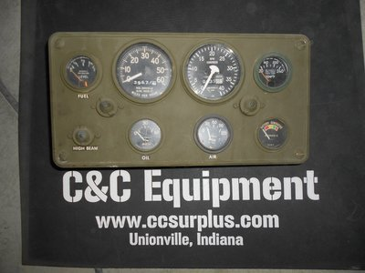 M35A2 used gauge cluster will fit 2.5 and 5 ton trucks M813
